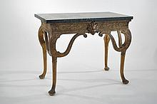 C. 1900 IRISH MARBLE TOP CONSOLE TABLE