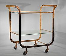 ART DECO COPPER TEA CART