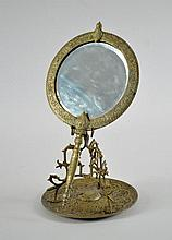 TIFFANY & CO BRONZE MOORISH DRESSER MIRROR & STAND