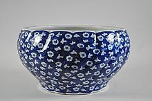 CHINESE BLUE AND WHITE PORCELAIN BOWL JARDINERE