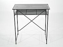 PAUL MCCOBB METAL & GLASS VANITY DESK