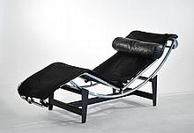 LE CORBUSIER STYLE PONY HIDE LOUNGE CHAIR