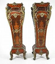 PAIR OF MONUMENTAL FRENCH PEDESTALS
