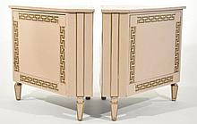 CORNER SIDE TABLES IN THE MANNER OF JAMES MONT