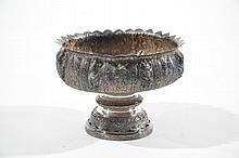 MONUMENTAL SIAMESE SILVER FOOTED COMPOTE