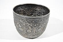 ANTIQUE SIAMESE STERLING SILVER CACHEPOT