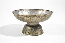 ANTIQUE SIAM GOLD & SILVER NIELLO COMPOTE
