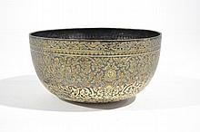 ANTIQUE SIAMESE GOLD & SILVER NIELLO BOWL
