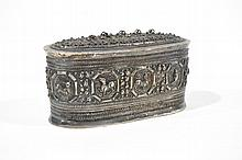 OVAL SIAM STERLING SILVER BOX