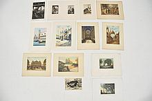 EARLY 20TH CENTURY PRINTS, WATERCOLORS