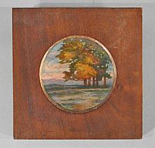 PIERRE BONNAUD LIMOGES ENAMEL PLATE, C. 1890'S
