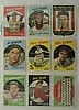 1959 Topps 9 Card Lot w. Early Wynn & C. Flood