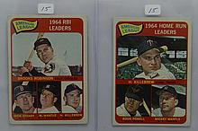1965 Topps AL HR Leaders #3 & AL RBI Leaders #5