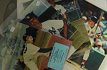 6 Autograph Lot - Whitey Ford, Pinella, Drysdale