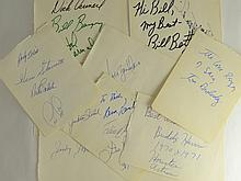 Lot of 11 Autographed Pages - MultiSport - HOFers