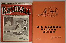 Baseball Magazine July '53 & '61 Big League Guide