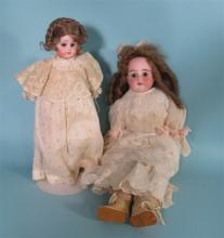 TWO GERMAN ANTIQUE BISQUE DOLLS:
