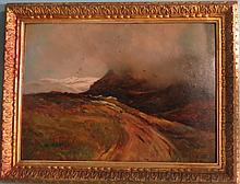 19th C CHARLES AIKMAN LANDSCAPE PAINTING: