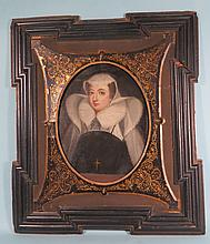 17TH/18TH C PORTRAIT OF MARY QUEEN OF SCOTS (1542-1587):