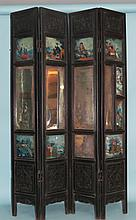EARLY CHINESE  FOLDING TABLE  OR DRESSING SCREEN: