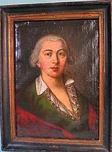 18TH C EARLY EUROPEAN SCHOOL  PORTRAIT OF A GENTLEMAN:
