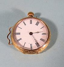 WOMAN?S 18KT GOLD POCKET WATCH:
