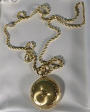 18KT GOLD HUNTER'S CASE POCKET WATCH: