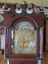 19TH C WALTER DURFEE EIGHT BELL TALL CLOCK: