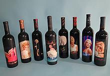 8 VINTAGE COLLECTIBLE MARILYN MERLOT WINE: