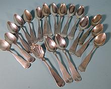 ASSORTED AMERICAN COIN SILVER SPOONS: