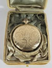14KT GOLD REGINA HUNTER?S CASE POCKET WATCH: