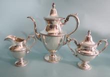THREE PIECE STERLING TEA SET