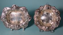 TWO REPOUSSE STERLING SILVER BOWLS: