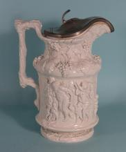 ENGLISH SLAT GLAZE PITCHER: