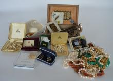 A large quantity of good costume jewellery, pearl