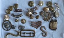 Good military cap badges etc. Est. £30 - £60.
