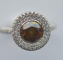 A good quality unusual modern diamond cluster ring