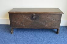 A late 17th Century / early 18th Century oak plank