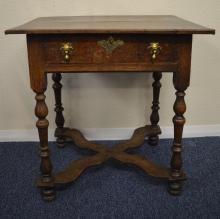 A late 17th Century / early 18th Century oak side