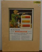 A Winchester Shell advertising poster. Est. £20 -