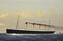 1912 (April 11) James Morton painting of Titanic passing the Fastnet