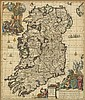 circa 1733: Carolus Allard map of Ireland 'Hyberniae Regni in Provincias...'