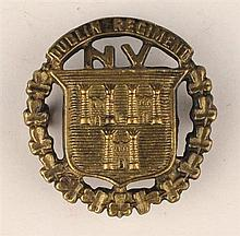 circa 1914: Dublin Regiment National Volunteers cap badge