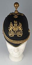 circa 1910: Royal Army Medical Corps Dublin made home service pattern helmet