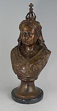 Bronze bust of Queen Victoria