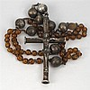 18th Century: White Metal Crucifix
