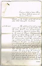 19th-20th Century: Collection of indentures and legal documents relating to the White and Barron families of Kilkenny