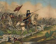 19th Century: King William Crossing the Boyne print
