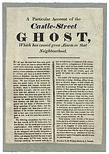 circa 1830: 'A Particular Account of the Castle-Street Ghost...' broadside