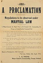 1916 Rising: British Army Martial Law Proclamation Poster